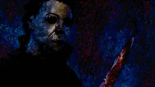 Halloween Michael Myers Signed Prints available at laartwork.com Coupon Code KODAK by Leon Jimenez