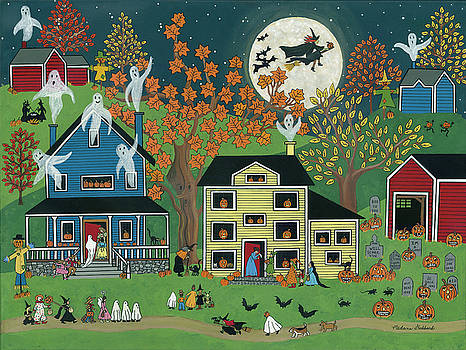 Halloween On Maple Street by Medana Gabbard