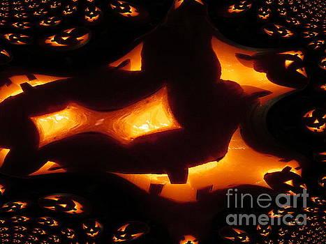 Halloween Pumpkins Abstract by Martin Howard