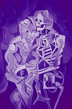 Tracey Harrington-Simpson - Halloween Skeleton Welcoming The Undead