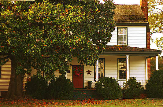 Hallsborough Tavern Inn Autumn Midlothian VA by Suzanne Powers