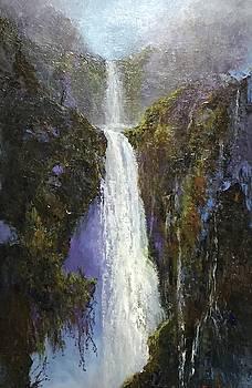 Hamama Falls, Waihee Valley by Ed Furuike
