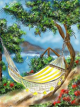 Hammock on the ocean by Darren Cannell