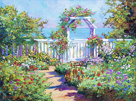 Hamptons Summer Garden by David Lloyd Glover
