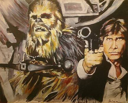 Han and Chewie by Brian Child
