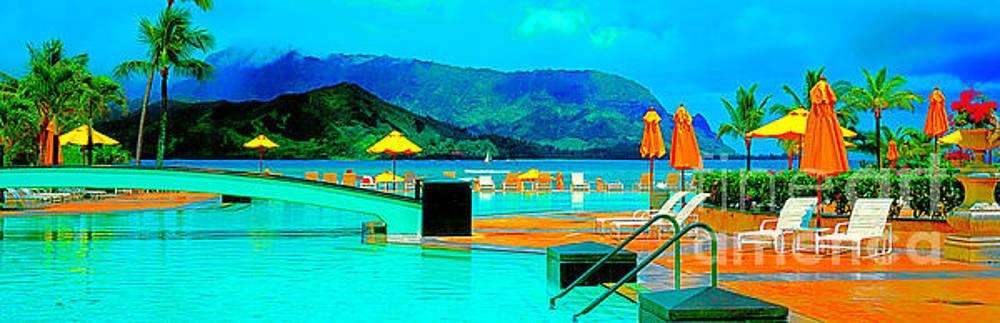 Hanalei bay Bali Hai Hawaii Princeville  by Tom Jelen
