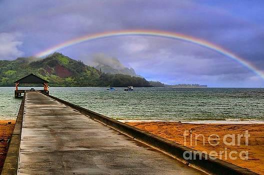Hanalei Bay Pier by DJ Florek