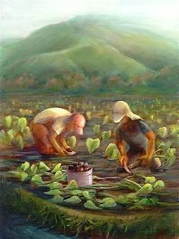 Hanalei Taro Farmers by Wicki Van De Veer
