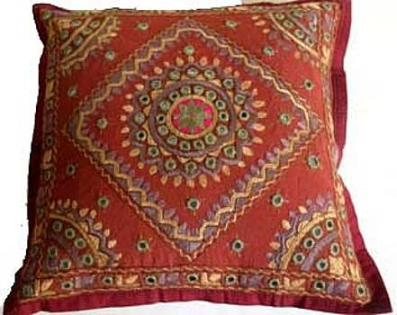 Hand Embroidered Cushion Cover by Santosh Rathi
