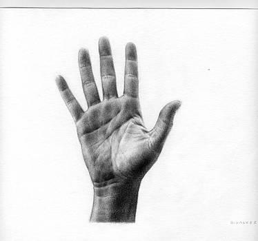 Hand by Galvez Miro