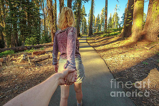 Hand in hand Sequoia Hiking by Benny Marty