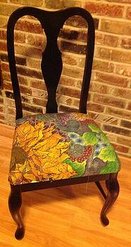 Hand-painted Chair by Meldra Driscoll
