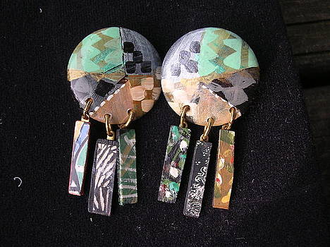 HAND-PAINTED earrings by Barbara Yalof