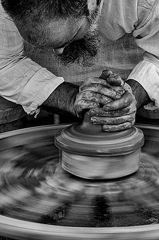 Guy Shultz - Hand Powered Potters Wheel