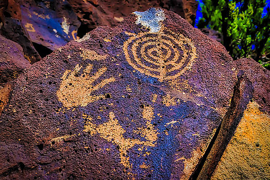 Hand Print On Rock by Garry Gay