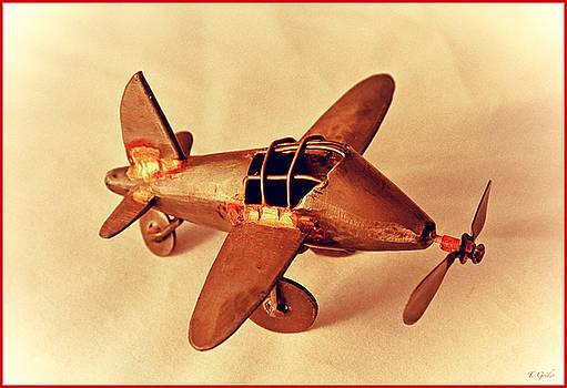 TONY GRIDER - Handmade Metal Toy Plane
