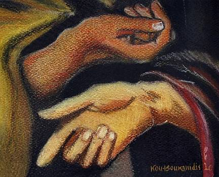 Hands after El Greco by Kostas Koutsoukanidis