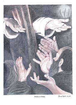 Hands Caravaggio by Bernardo Capicotto
