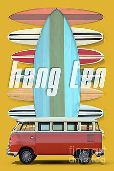 Hang Ten Surfboard Surfer Van by Edward Fielding
