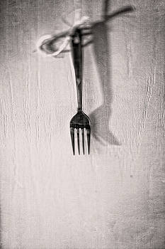 Hanging Fork on Jute Twine in BW by YoPedro