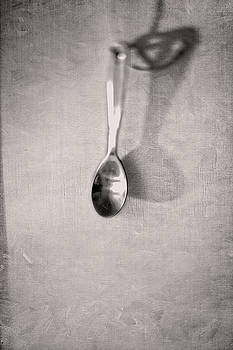 Hanging Spoon on Jute Twine in BW by YoPedro