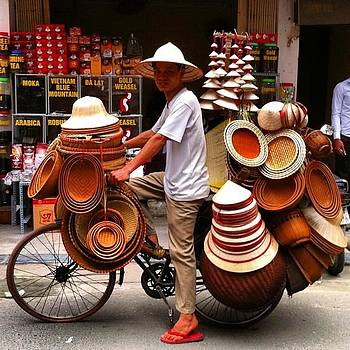 Hanoi Street Hat by Paul Dal Sasso