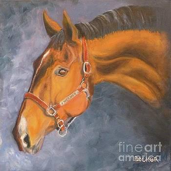 Hanoverian Warmblood Sport Horse by Susan A Becker