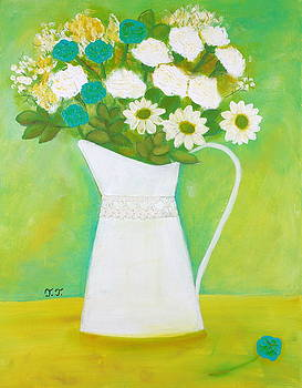 Happiness in a White Vase by Teodora Totorean