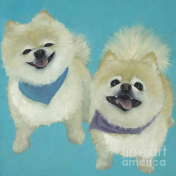 Happiness is... Ramone and Emma by Alyson Kinkade