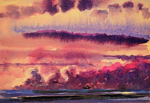 Morning clouds on the ocean  by Julianne Felton