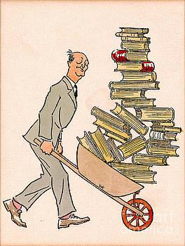 Happy Bibliophile 1930 by Padre Art