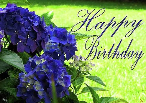 Happy Birthday Hydrangea by Art By ONYX
