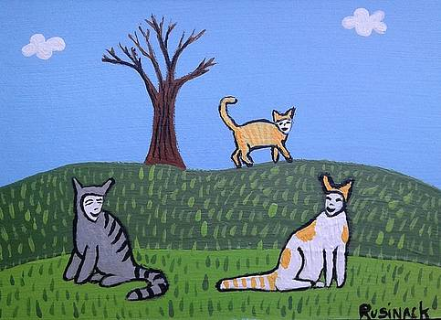 Happy Cats by Sherry Rusinack
