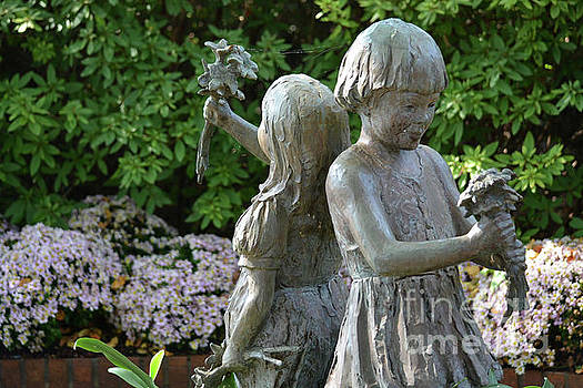 Happy Children Picking Flowers by Ruth Housley