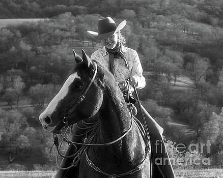 Happy Cowgirl by Ana V Ramirez