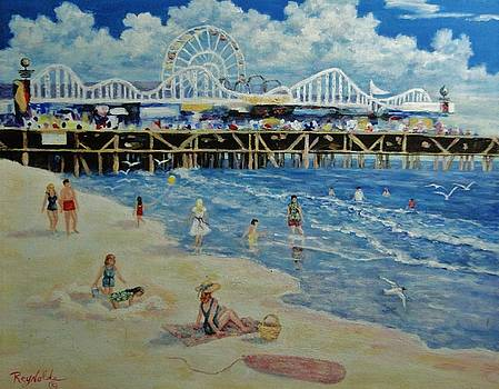 Happy Day at Santa Monica Beach and Pier by Carol Reynolds