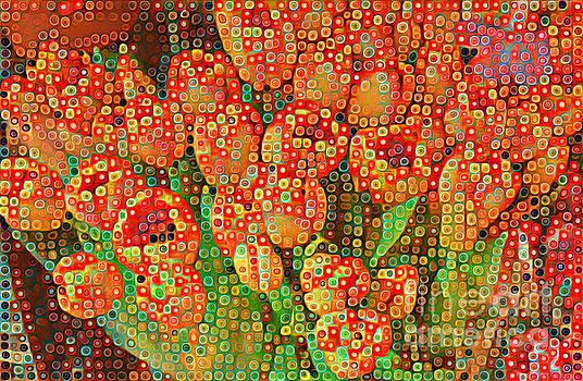 Happy Dots - Orange Tulips of Summer by Miriam Danar