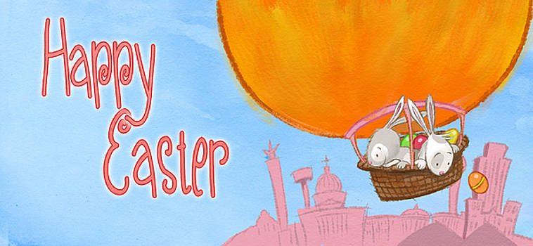 Happy Easter Balloon by Andy Catling