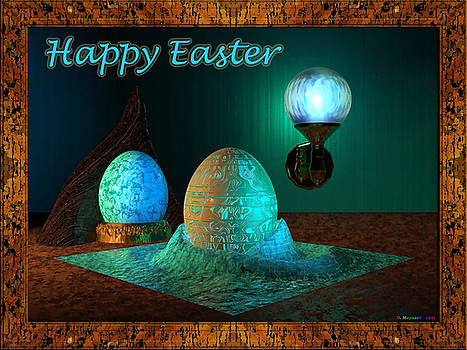 Happy Easter Greeting Card by Danny Maynard