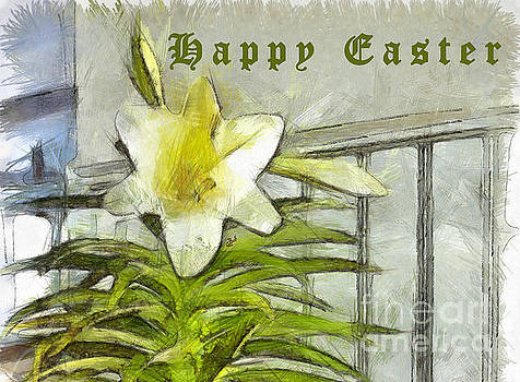 Happy Easter Lily by Claire Bull