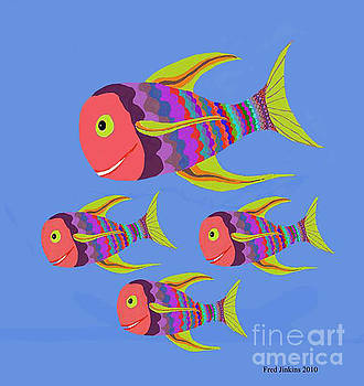 Happy Fashion Fish by Fred Jinkins