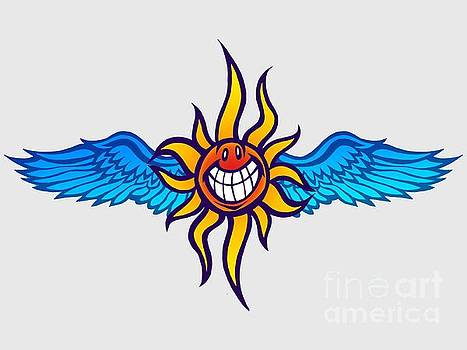 Happy Flying Sun by Gregory Dyer