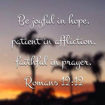 "Happy Friday! ""be Joyful In Hope by Go Inspire Beauty"