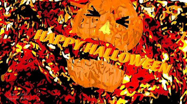 Larry Lamb - Happy Halloween Poster card sign