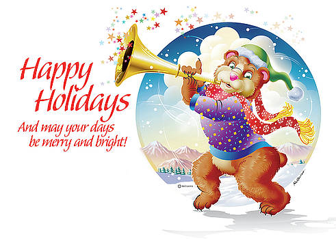 Happy Holidays Bear  by Ned Levine