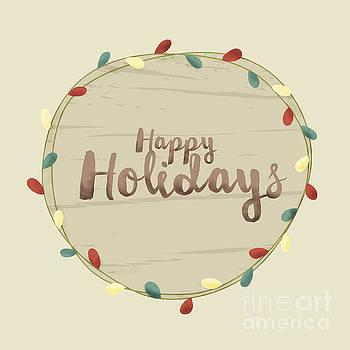 Sophie McAulay - Happy Holidays light bulbs
