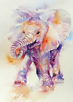 Happy Holly Baby Elephant by Arti Chauhan