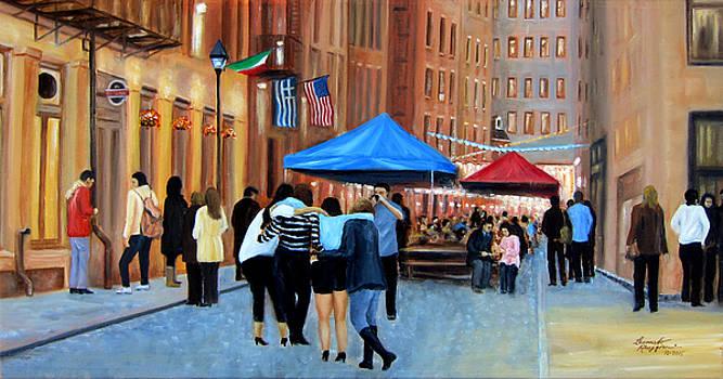 Happy Hour on Stone St. NYC by Leonardo Ruggieri