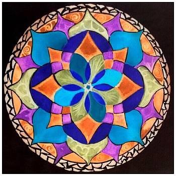 Happy Mandala  by Sandra Lira