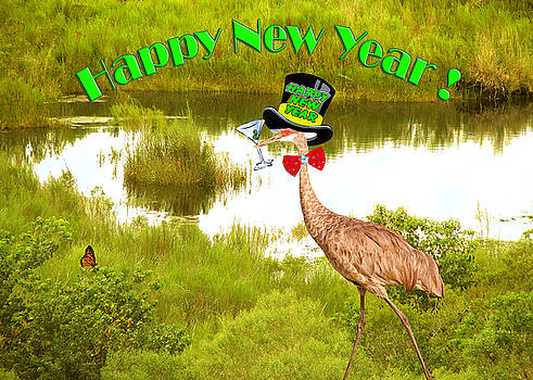 Happy New Year Card by Adele Moscaritolo